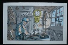 EDWARD BAWDEN ORIGINAL LITHOGRAPH PRINT 1949 THE SADLER'S SHOP MARKET GARDENER