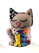 Romero Britto  CAT - Gray - salt and pepper shakers  new