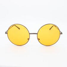Oversized Hippie Fashion Retro Large Round Lennon Ladies Sunglasses Orange