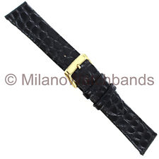 20mm Speidel Black Mens Classic Crocodile Grain Unstitched Watch Band 950 730