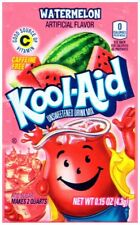 12 Packs of Kool Aid WATERMELON  Flavor Drink Mix Packet Gluten Free FREE SHIP