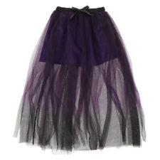 Claire's Ombre Purple/Black Skirt Tutu Sexy Halloween Costume Women's One size