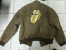 VTG EXCELLED ROLLING STONES TOUR 1997 MOTORCYCLE FLIGHT LEATHER JACKET L BOMBER