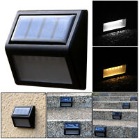 6 LED Lampe Jardin Solaire Extérieur Lumière éclairage Escalier Plein air