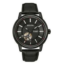 Mens bulova automatic 98A139 watch Black Dial Brand New