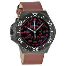 Converse Foxtrot Culture Black Dial Red Leather Unisex Watch VR-008-650