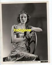 LORETTA YOUNG ORIGINAL 8X10 PHOTO BY GEORGE HURRELL 1930's FASHION BY NINA FOLEY