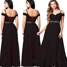 Roiii Women Chiffon Evening Party Ball Prom Gown Party Cocktail Bridesmaid Dress