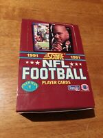 Score 1991 Series 1 NFL Football Trading Cards 35 Ct. Opened Box 35 Ct. Sealed