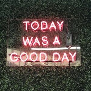 """14""""x9""""Today Was A Good Day Neon Sign Light Handmade Personalised Man Cave Light"""