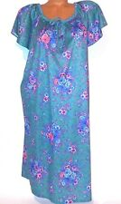 Haband for Her Vintage Womens Night Gown Sleep Shirt Blue Floral Large Pajamas