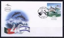 ISRAEL PORTUGAL 2017 STAMPS JOINT ISSUE STAMP ON FDC DOLPHIN RESEARCH