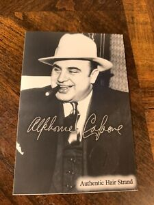 Al Capone Hair Strand Lock Relic Collectible Mafia Chicago Gangster Gang museum