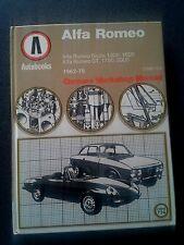 ALPHA ROMEO WORKSHOP MANUAL BOOK HB 1962-1978