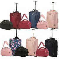Ryanair Hand Luggage Set 40x25x20 Holdall & 55x35x20 Cabin Bag Trolley