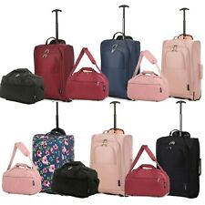 Ryanair Hand Luggage Set 40x25x20 Holdall & 55x35x20 Cabin Bag Trolley