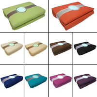 LARGE SIZE 100% COTTON WOVEN SOFA BED SETTEE THROW COVER CHAIR BEDSPREAD BLANKET