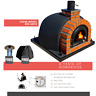 Wood or Gas fired  pizza oven - Accessories included. Glass door. Red arch.