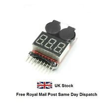 RC Li-poly Battery Low Voltage Alarm Buzzer Indicator Checker Tester Meter