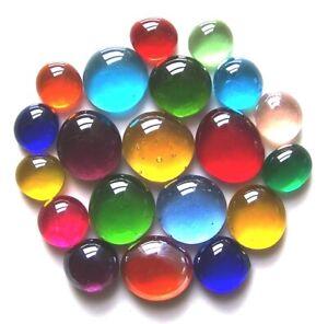 20 x Rainbow Mosaic Lead Light Pebbles Art Glass Gem Stones - Assorted Sizes