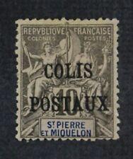 CKStamps: ST. Pierre & Misquelm Stamps Collection Scott#Q1 Mint H OG Spot Thin