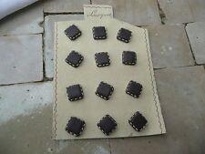 12 boutons mercerie cuir