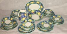 Servizio Piatti 21 pz. Ceramica Vietrese  decorato a mano.