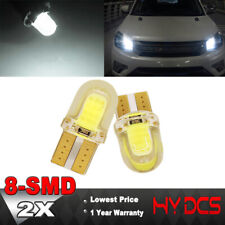 2x T10 194 168 W5W COB 8-SMD SILICA Super Bright LED light Bulb White 6500K 12V
