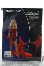 DreamGirl Devil Kit Red Halloween Costume Style 6051 One Size (UK6-16)