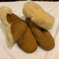 UGG Australia Womens Boots Beige Genuine Sheepskin Pull On Flat Heel 6 EU 37.5