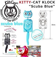 Scuba Blue Limited Edition Kitty-Cat Clock (12.75″ high) Great Gift For Kids Oz