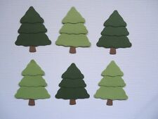6 LAYERED CHRISTMAS TREES XMAS FIR EMBELLISHMENTS DIE CUT FULLY ASSEMBLED