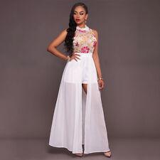 Women Summer BOHO Long Maxi Dress Floral Evening Party Beach Dresses Sundress US