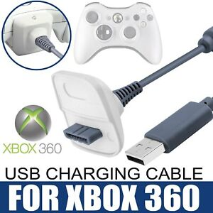 USB Charging Lead Charger Wire Cable For Xbox 360 Wireless Controller Gamepad UK