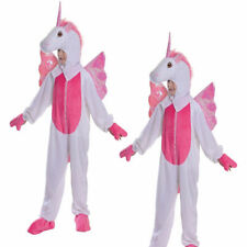 Girls Unicorn Zipster Costume Kids Fairy Tale Jumpsuit Childs Fancy Dress Outfit