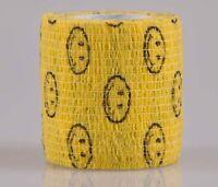 """Elastic Cohesive Bandage Self-Adherent Sports Tape  2""""x5yards Smile Face"""
