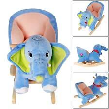 Schaukelpferd Schaukeltier Plüsch Schaukel Pferd Baby Kinder Elefant Sound