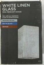 White Linen Glass Mini Pendant Shade Model Number 87071