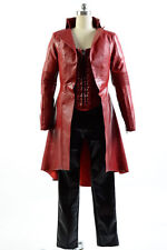 Captain America Civil War Avengers Scarlet Witch Wanda Coat Suit cosplay Costume