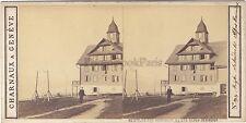Le Rigi Scheideck Suisse Stéréo Vintage Albumine ca 1860