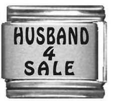 Clearly Charming Husband 4 Sale Laser Italian Charm