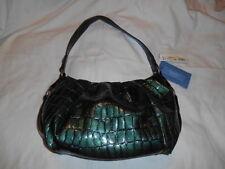 NWT SIMPLY VERA WANG Dark Green Croc Texture HOBO BAG MSRP $79.00