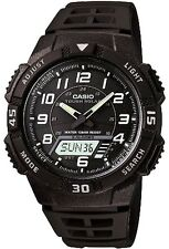 Casio Mens AQS800W-1B Tough Solar 100M World Time Sports Watch