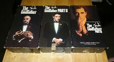The Godfather Trilogy 1 2 3 (VHS Lot of 6) Al Pacino Mafia Drama Non-Rentals