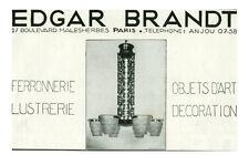 Publicité ancienne Edgar Brandt ferronnerie lustrerie issue de magazine
