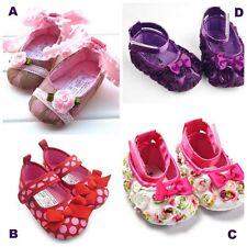 Baby Infant Girl Pre-walker Pram Shoes Shower Gift  Lace Flower Polka Dot