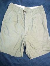 BS 1534 Vintage BSA Green Uniform Shorts Heavy Weight Cotton Waist 24