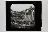 Italia Roma Targa Di Proiezione Per Lanterna Magica Ca 1900