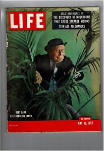 May 13 1957 Life Magazine Burt Lahr Mushrooms That Cause Visions Teen-Age L1306