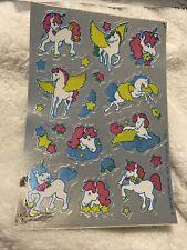 Vintage Sticker Mark I Sniff Sheet Unicorns 1984 80s
